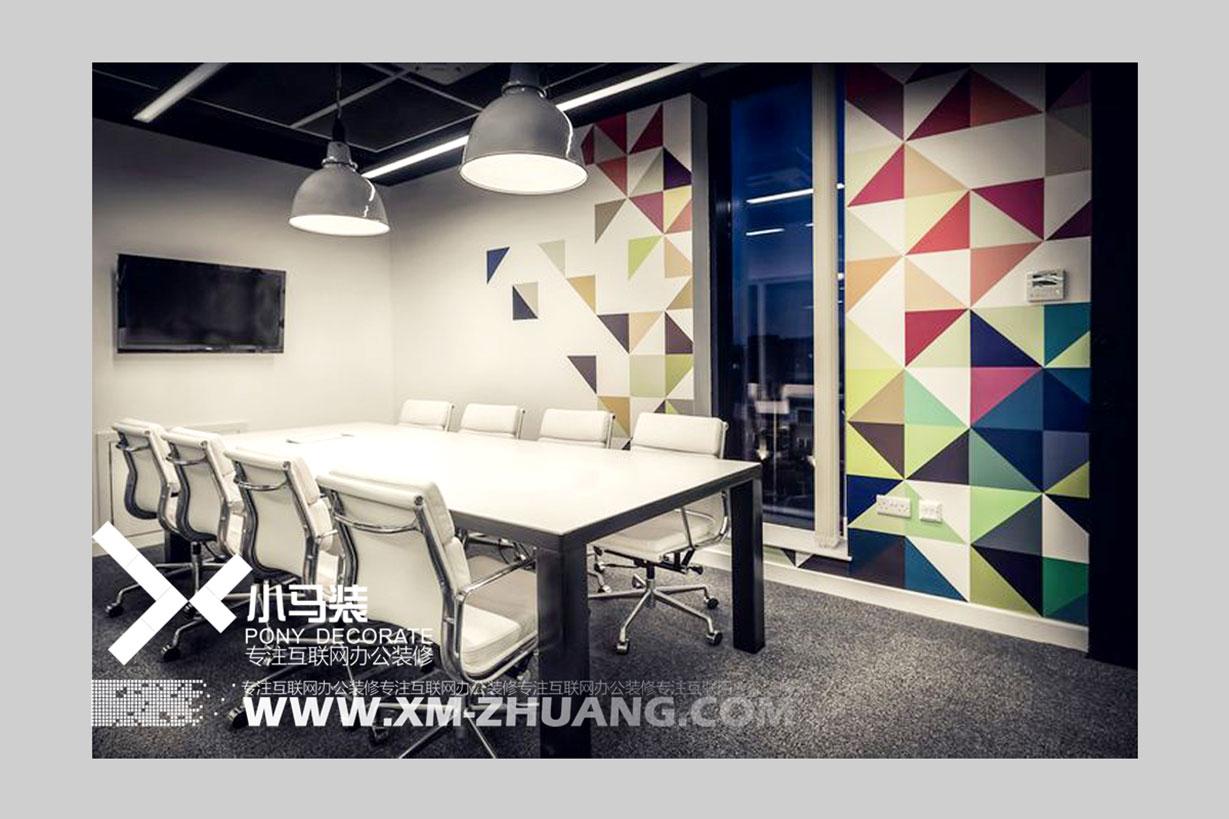 小马装谈办公室装修:细说企业背景墙事宜