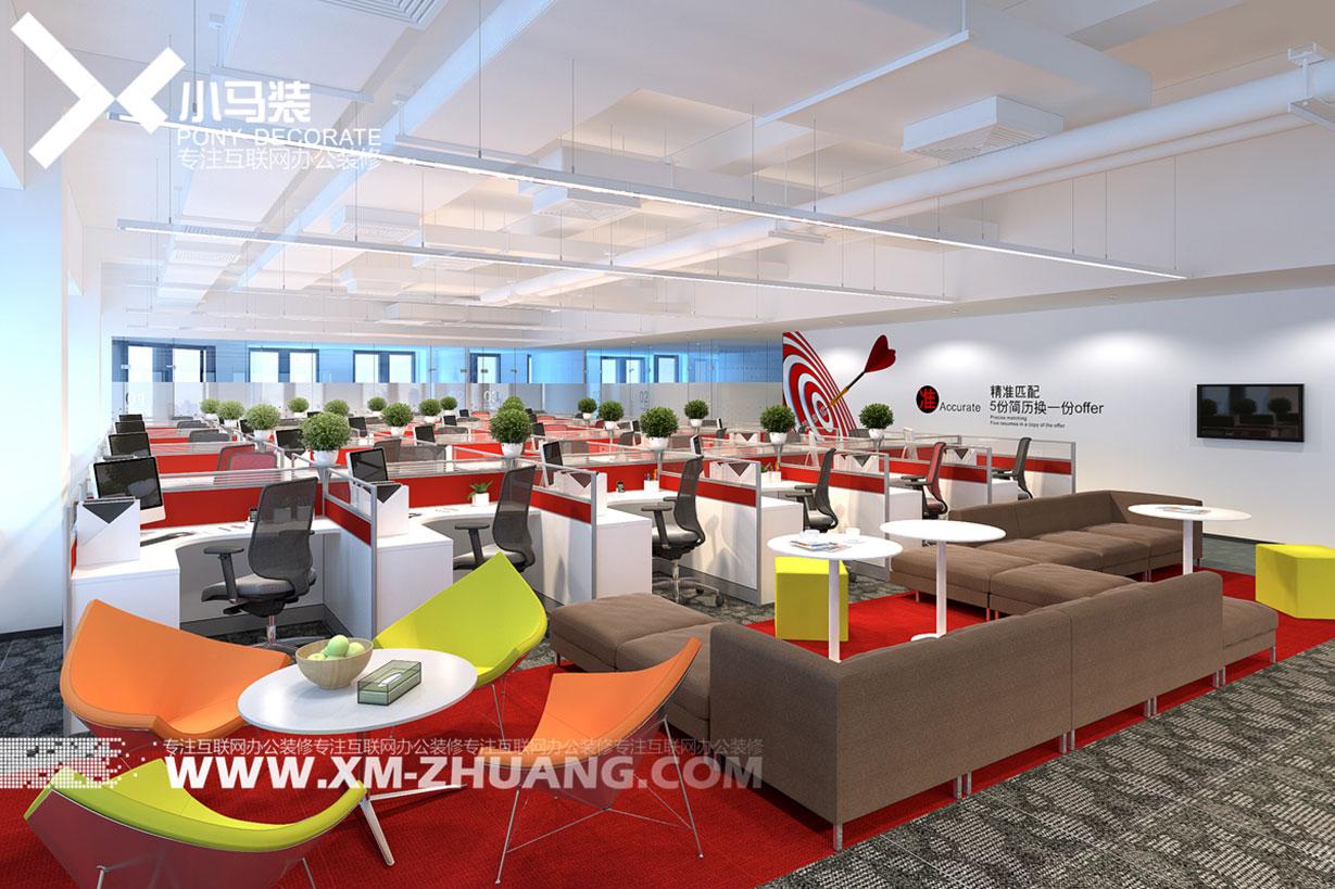 小马装:宝山办公室装修 如何有效划分开敞办公室?
