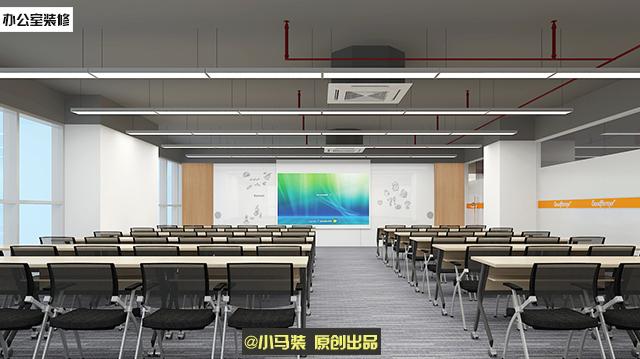 小马装原创办公室装修设计效果图